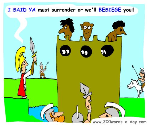 italian-verb-to-beseige-assediare