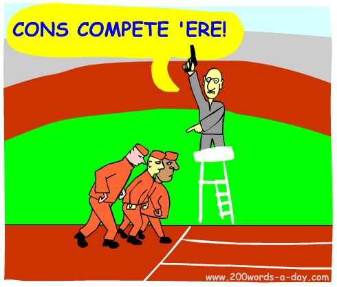 Spanish to compete is competir