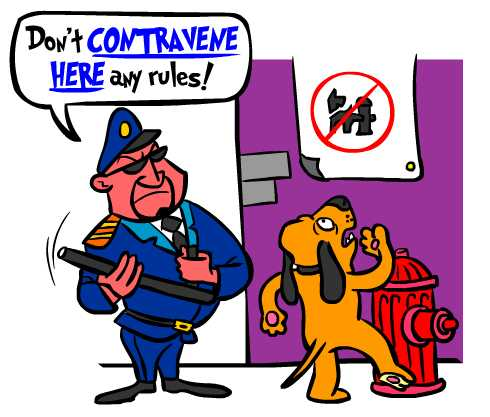 Spanish to contravene is contravenir