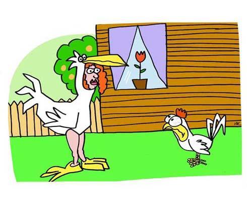 Welsh word for hen, chicken