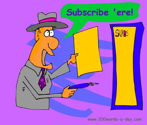 Spanish to subscribe is suscribir